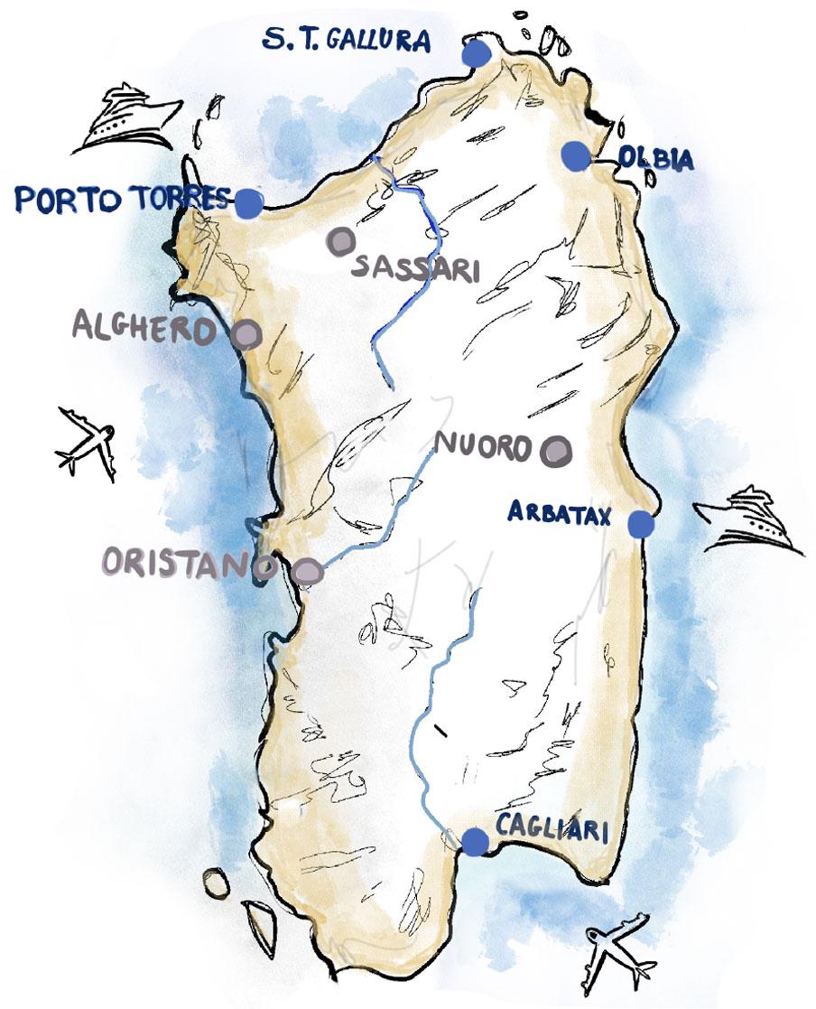 Isole Sardegna Cartina.Sardegna Racconto Dall Isola Ostaggio Di Trasporti E Pandemia