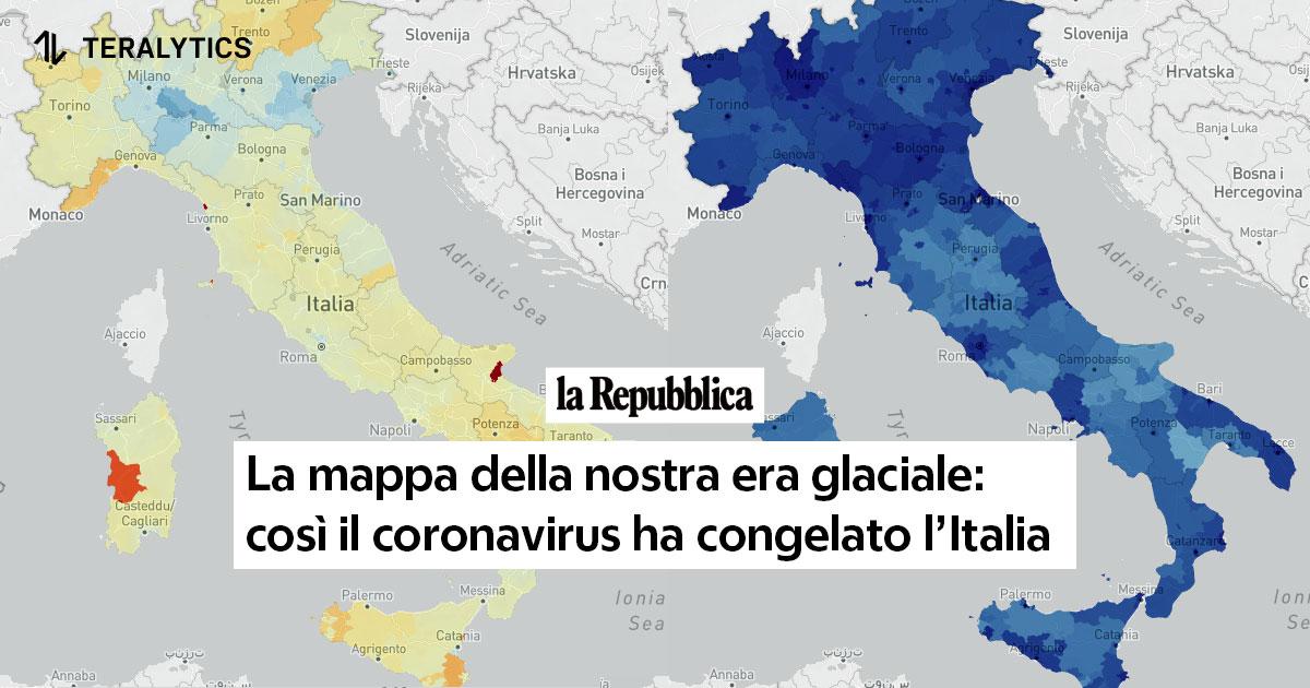 Cartina Italia Javascript.La Mappa Della Nostra Era Glaciale Cosi Il Coronavirus Ha Congelato L Italia