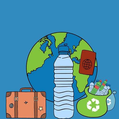 La bottiglia di plastica rigenerata: come funziona il riciclo